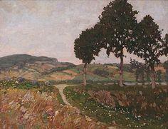 Summer landscape with a pond, Ota Bubeníček. (1871 - 1962)