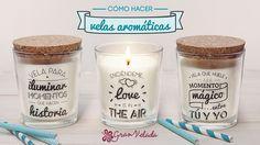 Video tutorial donde os enseñamos cómo hacer velas aromáticas para vuestra casa con mensajes románticos para regalar y sorprender a nuestra pareja