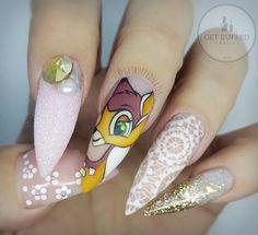 Bambi Inspired Stiletto Nails
