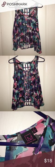Tank top flowy see through tank top, backless Material Girl Tops Tank Tops