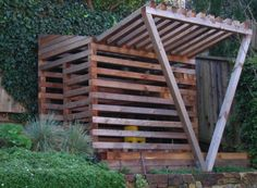 Playhouse inspiration.  May do a modern a-frame fort with some of these features.