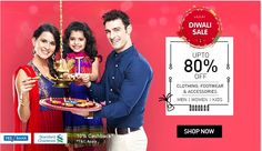 Snapdeal offers Diwali special sale on fashion products. Get upto 80% discount on clothing, footwear and accessories at #snapdeal