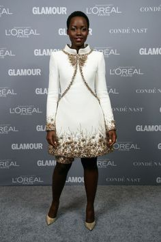 Lupita Nyong'o in Chanel couture at the 'Glamour' Women of the Year Awards. Photo: Dimitrios Kambouris
