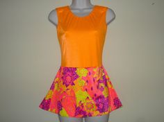 EyeCatching Ice Skating Dress Adult Small  Bright by SeamsByTeri, $60.00