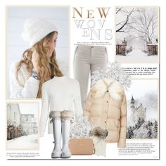 """""""Winter is the time of promise because there's so little to do, or because you can now and then permit yourself the luxury of thinking so!!"""" by lilly-2711 ❤ liked on Polyvore featuring H&M, FAY, Mary Katrantzou, Miss Selfridge, Inverni, Prada and Victoria Beckham"""