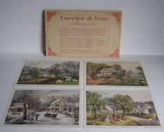 Currier and Ives Lithographs American Homestead series