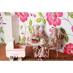 Bord metall puder rosa coffetable