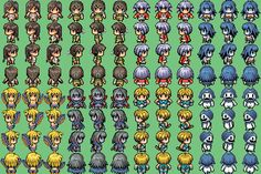 RPG Maker VX Resources For my documentation and bookmark only - shared with others. Rpg Maker Vx, Game Resources, Pixel Art Games, Pixel Design, 16 Bit, Game Icon, Fantasy World, Game Character, Game Design