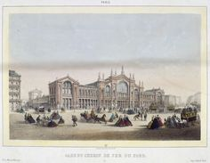 Charles RIVIÈRE - Gare du chemin de fer du Nord.