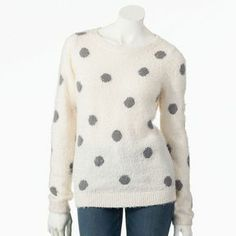 Lc lauren conrad dot fuzzy sweater on shopstyle.com