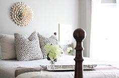 Kate Spade Dalmatian print pillow cover // Lacefield Dalmatian