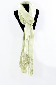 green dyed scarf with fringe---made me think of Carmen.