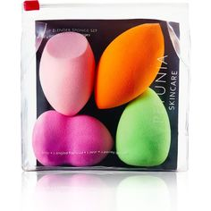 Makeup Beauty Dupe Sponge Blender - 4pc Multi-Functional Shapes - Non-Disposable Cosmetic Applicator - High Definition Non-Latex Foam - Blend Foundation, Highlight & Contour - Colors Vary