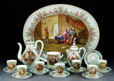 Russian Porcelain Tea & Coffee Service.
