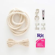 DIY Dip Dyed Rope Leash - Pretty Fluffy | Pretty Fluffy