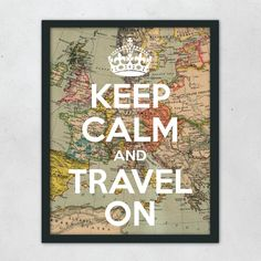Keep Calm and Travel Print | dotandbo.com