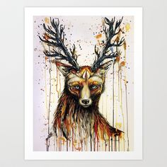 """""""God of the forest"""" Art Print by PeeGeeArts - $25.00"""
