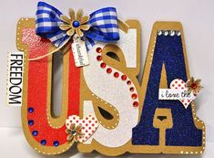 USA WORD SHAPED CARD....perfect for the 4th of July  http://thecuttingcafe.typepad.com/the_cutting_cafe/2012/06/usa-word-shaped-cardtemplate-cutting-file.html