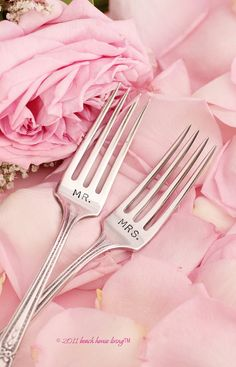 My go-to wedding shower gift. Cake forks! These may be a bit cornet,but they are so sentimental and you can eat your anniversary dessert with them forever!