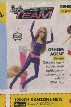 Geheim agent Barbie - Secret agent Barbie. I'm afrid haar cover is blowen.