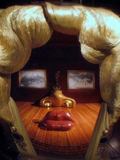 Mae West: ilusión óptica en el Museo de Dalí, en Figueres.