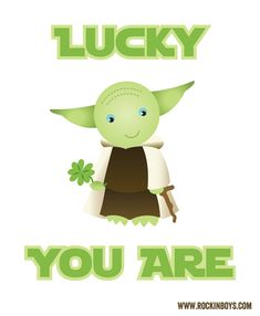 Free St. Patrick's Day printables: Star Wars card from Rockin' the Boys Club