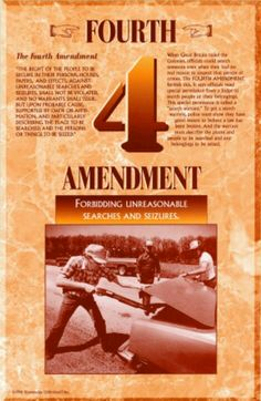 This is a description of what the 4th amendment does state, as well as providing a brief background of it.