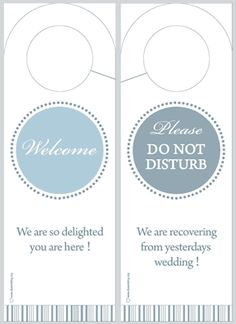 Wedding Door Hanger Printabletemplate Do Not Disturb Door Hanger