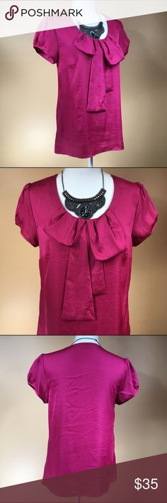 Pink Polka Dot Draped Bow Blouse Pink Polka Dot Draped Bow Blouse, size medium. By Kristen Davis.   🎀Search my closet for your size 🎀BUNDLE and SAVE! 🎀REASONABLE offers WELCOME 🎀NO TRADES NO HOLDS 🎀Thank you for stopping by!❤️ kristen davis Tops Blouses
