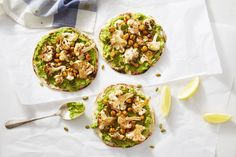 BBQ Chickpea & Cauliflower Flatbreads with Avocado Mash