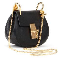 Chloé Bags ($700) ❤ liked on Polyvore featuring bags, handbags, black, black purse, chain handle handbags, chloe purses, chloe handbags and black chain shoulder bag