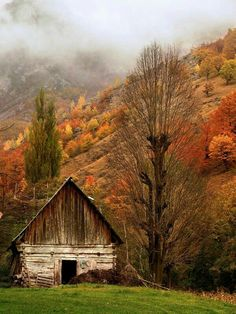 Country day in autumn, old barn Country Barns, Country Life, Country Living, Country Fall, Country Roads, Barn Pictures, Autumn Scenery, Country Scenes, Old Farm