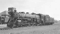 Canadian National 6024, Stratford, Ontario, September 5, 1958. Class U-1-b 4-8-2, erected 1924 by Canadian Locomotive Company.