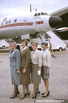 Vintage cabin crew: TWA #veteran F/As #thanks