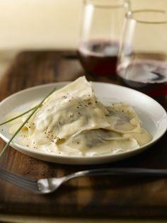 Easy Mushroom Ravioli with Four-Cheese Sauce   Mushroom Info