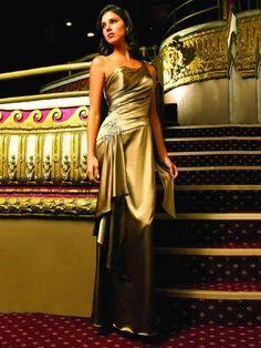 4e77cce9fb Satin Eine Schulter Mantel / Spalte Abendkleid mit Kristalldetaillierung  Evening Dress 2015, Evening Dresses Online