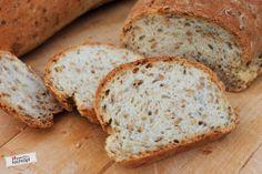 (K)ein Bodybuilder-Brot mit Leinsamen und Eiweiss für den Bread Baking Day #64