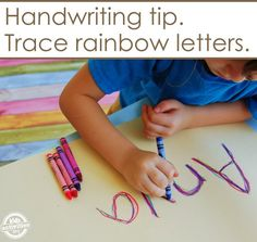 Make a rainbow as you write your name