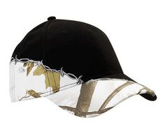Licensed camo cap with barbed wire embroidery. Features: structured, mid-profile, six-panel, solid color undervisor with stitched sweatband, barbed wire embroidery from visor to velcro (R) closure, and pre-curved visor....           Product Color Options: Olive-Camouflage, Blaze-Camouflage, Black-Camouflage, Tan-Camouflage, Brown-Camouflage...  Material:Poly/Cotton Blend...blank versions start at $8.50 each...minimum for embroidered is 72 @ $11.83 plus $100 setup