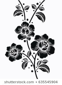 Find Flower Motif Sketch Design stock images in HD and millions of other royalty-free stock photos, illustrations and vectors in the Shutterstock collection. Line Art, Fabric Paint Designs, Flower Silhouette, Stencil Patterns, Art File, Sketch Design, Flower Designs, Art Sketches, Flower Art