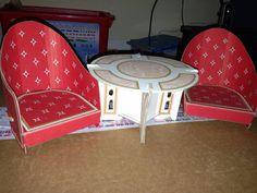 Vintage Cardboard Barbie Furniture