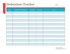 Tax Deductions Tracker