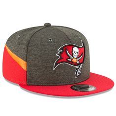 huge discount abf06 60548 Men s Tampa Bay Buccaneers New Era Pewter Red 2018 NFL Sideline Home  Official 9FIFTY