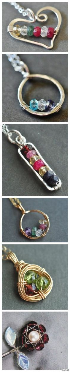 my sister-in-law, showed me how to make this bent wire jewelry, although I'm not...
