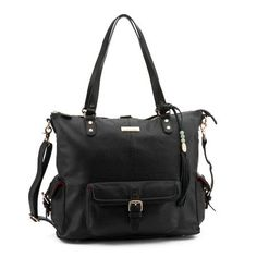 I've found the bag for me--it doesn't even look like a diaper bag! And it can covert into a backpack! Love the color, makes it almost a bit edgy...