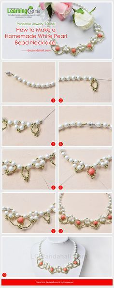 LC.Pandahall.com has published the tutorial on How to Make a Homemade White Pearl Bead Necklace