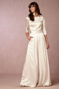 Desiree Top & Aurelia Pant | BHLDN  Perfect for a rehearsal dinner. So Kate Hepburn!