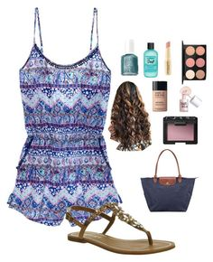 """""""romper"""" by morganmestan ❤ liked on Polyvore featuring Victoria's Secret, Office, Essie, Bumble and bumble, Napoleon Perdis, MAC Cosmetics, MAKE UP FOR EVER, Benefit, NARS Cosmetics and Longchamp"""
