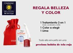 Tenemos el pack ideal para regalar belleza y color. 3 en 1 (base, fortalecedor de uñas y brillo), esmalte y lima de Essie para estas Navidades! Te esperamos en Passeig Francesc Macià, 67 de Sant Cugat