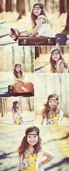 Oh my gosh...lil hippie child, I would totally do a photoshoot like this if I had a daughter. Too cute! If anyone has a daughter, and likes this I would love to do a shoot like this